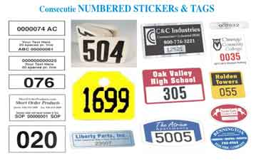 consecutive numbered labels
